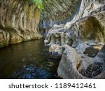 river in a wild gorge. cheile... | Shutterstock . vector #1189412461
