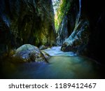 river in a wild gorge. cheile... | Shutterstock . vector #1189412467
