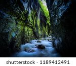 river in a wild gorge. cheile... | Shutterstock . vector #1189412491
