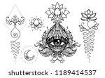 set of ornamental boho chic...   Shutterstock .eps vector #1189414537