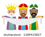 the three kings of orient with... | Shutterstock .eps vector #1189415827