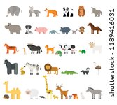 Stock vector set collection animals vector illustration 1189416031