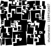 disheveled  loose rectangles... | Shutterstock .eps vector #1189416607