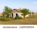 abandoned destroyed houses.... | Shutterstock . vector #1189420054