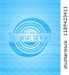 you can save the world water...   Shutterstock .eps vector #1189423411