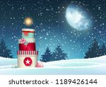 christmas background with stack ...   Shutterstock .eps vector #1189426144