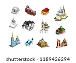 set of vector old country... | Shutterstock .eps vector #1189426294