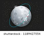 tourism on the moon  rocket... | Shutterstock .eps vector #1189427554