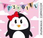 it s a girl card  baby shower ... | Shutterstock .eps vector #1189431124
