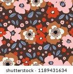 seamless floral retro pattern | Shutterstock .eps vector #1189431634