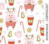 christmas seamless pattern with ... | Shutterstock .eps vector #1189432267