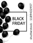 black friday sale poster with... | Shutterstock . vector #1189432957