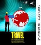 travel poster. vector... | Shutterstock .eps vector #118943557