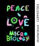peace love microbiology.... | Shutterstock .eps vector #1189437301