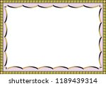 decorative frame and fill.... | Shutterstock .eps vector #1189439314
