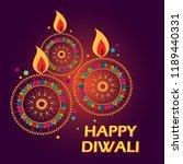 vector design of happy diwali...   Shutterstock .eps vector #1189440331