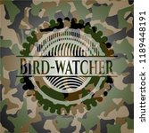 bird watcher camo emblem | Shutterstock .eps vector #1189448191