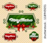 merry christmas   creative... | Shutterstock .eps vector #118945051