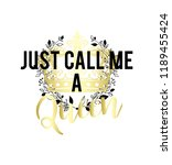 just call me a queen vector... | Shutterstock .eps vector #1189455424
