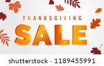 thanksgiving day sale autumn... | Shutterstock .eps vector #1189455991