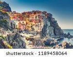 beautiful landscape of famous... | Shutterstock . vector #1189458064