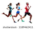 run  group of running people ... | Shutterstock .eps vector #1189462411