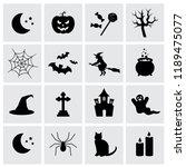 halloween symbols. vector icons ... | Shutterstock .eps vector #1189475077