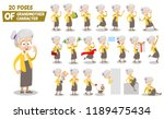 senior woman character animated ... | Shutterstock .eps vector #1189475434