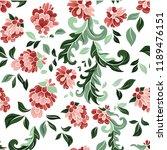 beautiful floral seamless...   Shutterstock . vector #1189476151