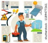 electrician profession... | Shutterstock . vector #1189477261