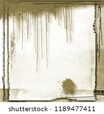 vintage sepia dripping frame... | Shutterstock . vector #1189477411