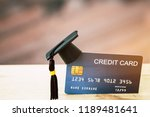 education payment credit card... | Shutterstock . vector #1189481641