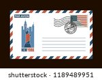 postal envelope design with... | Shutterstock .eps vector #1189489951