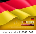 germany independence day... | Shutterstock .eps vector #1189491547