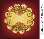 vintage gold frame with... | Shutterstock .eps vector #118949245