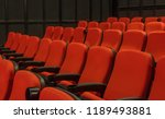 red chair in theater. | Shutterstock . vector #1189493881