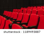 red chair in theater. | Shutterstock . vector #1189493887