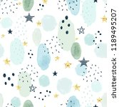 seamless pattern with doodle... | Shutterstock .eps vector #1189495207