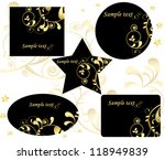 card templates | Shutterstock .eps vector #118949839