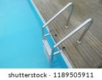 way down the pool stairs. | Shutterstock . vector #1189505911