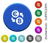 euro bitcoin money exchange...   Shutterstock .eps vector #1189512394