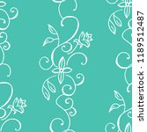 seamless pattern with flower   Shutterstock .eps vector #1189512487