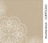 retro background with lace... | Shutterstock .eps vector #118951261