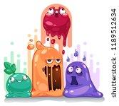 jelly slime monster creatures... | Shutterstock .eps vector #1189512634