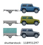 car with trailer | Shutterstock .eps vector #118951297