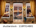 3d wallpaper design of istanbul ... | Shutterstock . vector #1189514881