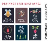 cute christmas greeting card... | Shutterstock .eps vector #1189516591
