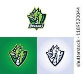 dragons esports gaming logo | Shutterstock .eps vector #1189520044