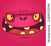 cartoon monster face. halloween ... | Shutterstock .eps vector #1189523194