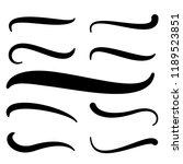 hand lettering underlines set.... | Shutterstock .eps vector #1189523851
